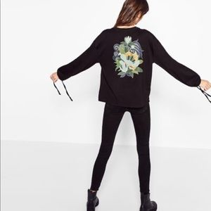 Zara Long Sleeve Tee with Back Patch